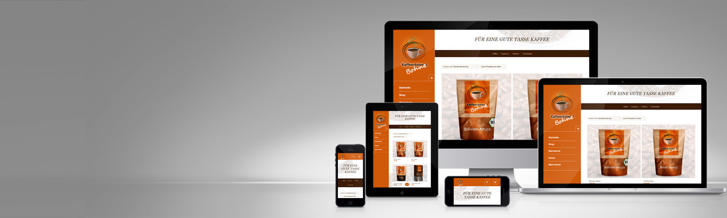 Responsive Website Shop