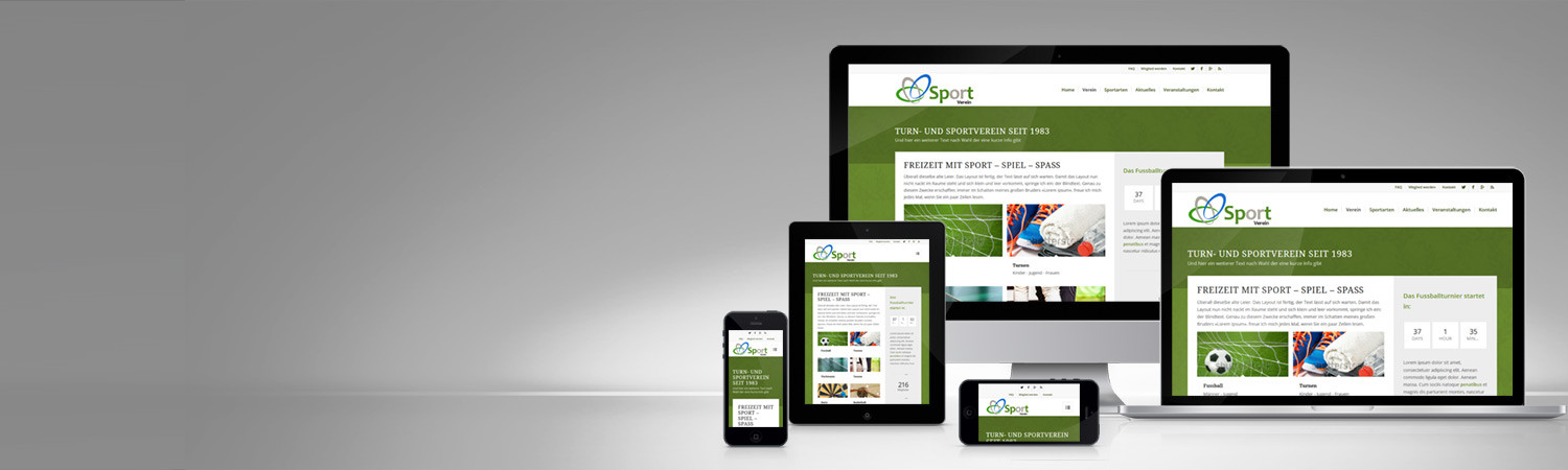 Responsive Website Sportverien