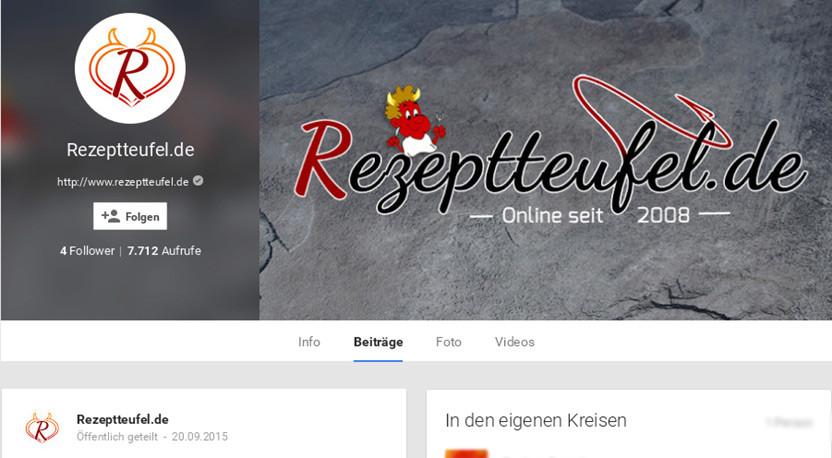 Rezeptteufel bei Google+