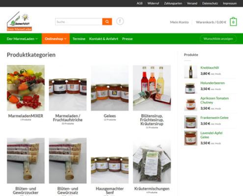 Irmis MarmeLaden Shop-Produktkategorien