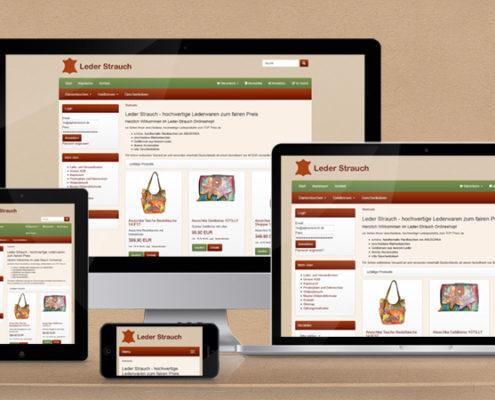 Leder-Strauch Onlineshop