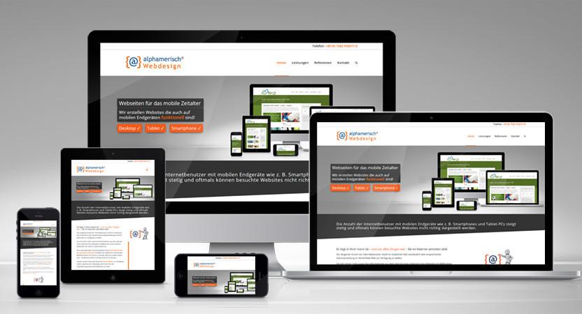 alphamerisch Webdesign - Responsive Webdesign